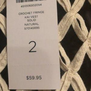 Chico's Tops - Crochet Vest Chico's